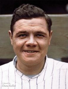babe ruth colorization
