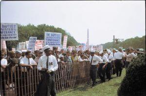 civil rights march photo colorization